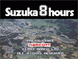 Title screen of Suzuka 8 Hours on the Nintendo SNES.