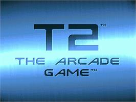 Title screen of T2: The Arcade Game on the Nintendo SNES.