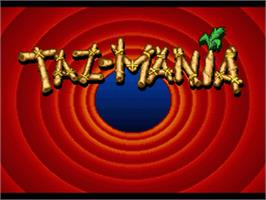 Title screen of Taz-Mania on the Nintendo SNES.