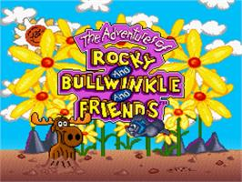 Title screen of The Adventures of Rocky and Bullwinkle & Friends on the Nintendo SNES.