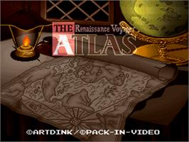 Title screen of The Atlas: Renaissance Voyager on the Nintendo SNES.