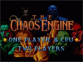 Title screen of The Chaos Engine on the Nintendo SNES.