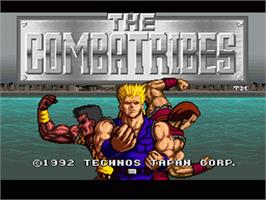 Title screen of The Combatribes on the Nintendo SNES.