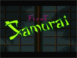 Title screen of The First Samurai on the Nintendo SNES.