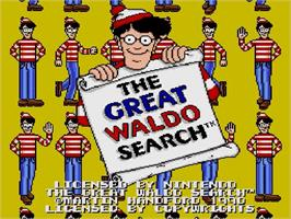 Title screen of The Great Waldo Search on the Nintendo SNES.