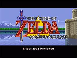 Title screen of The Legend of Zelda: A Link to the Past on the Nintendo SNES.
