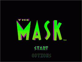 Title screen of The Mask on the Nintendo SNES.