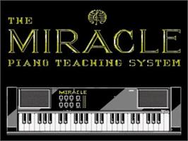 Title screen of The Miracle Piano Teaching System on the Nintendo SNES.