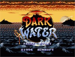 Title screen of The Pirates of Dark Water on the Nintendo SNES.