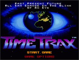 Title screen of Time Trax on the Nintendo SNES.
