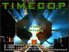 Title screen of Timecop on the Nintendo SNES.