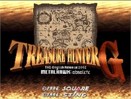 Title screen of Treasure Hunter G on the Nintendo SNES.
