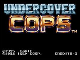 Title screen of Undercover Cops on the Nintendo SNES.