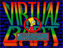 Title screen of Virtual Bart on the Nintendo SNES.