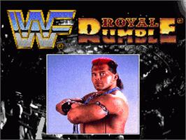 Title screen of WWF Royal Rumble on the Nintendo SNES.