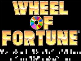 Title screen of Wheel of Fortune on the Nintendo SNES.