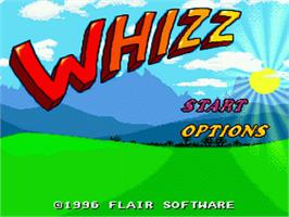 Title screen of Whizz on the Nintendo SNES.
