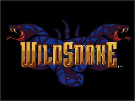 Title screen of WildSnake on the Nintendo SNES.