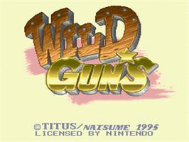 Title screen of Wild Guns on the Nintendo SNES.