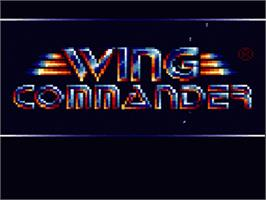 Title screen of Wing Commander: The Secret Missions on the Nintendo SNES.