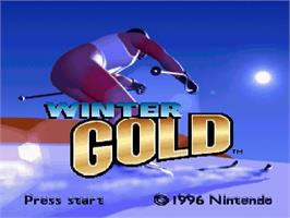 Title screen of Winter Gold on the Nintendo SNES.