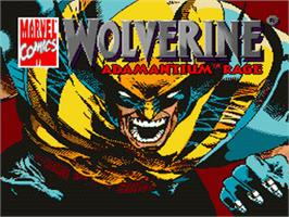 Title screen of Wolverine: Adamantium Rage on the Nintendo SNES.