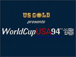 Title screen of World Cup USA '94 on the Nintendo SNES.