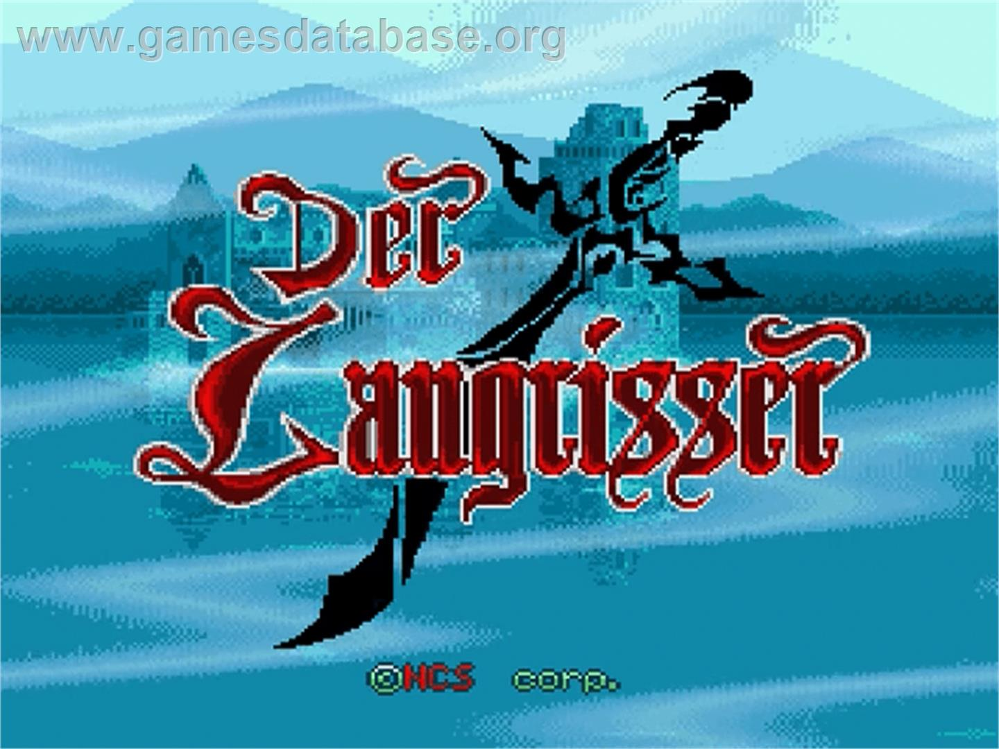 Der Langrisser - Nintendo SNES - Artwork - Title Screen