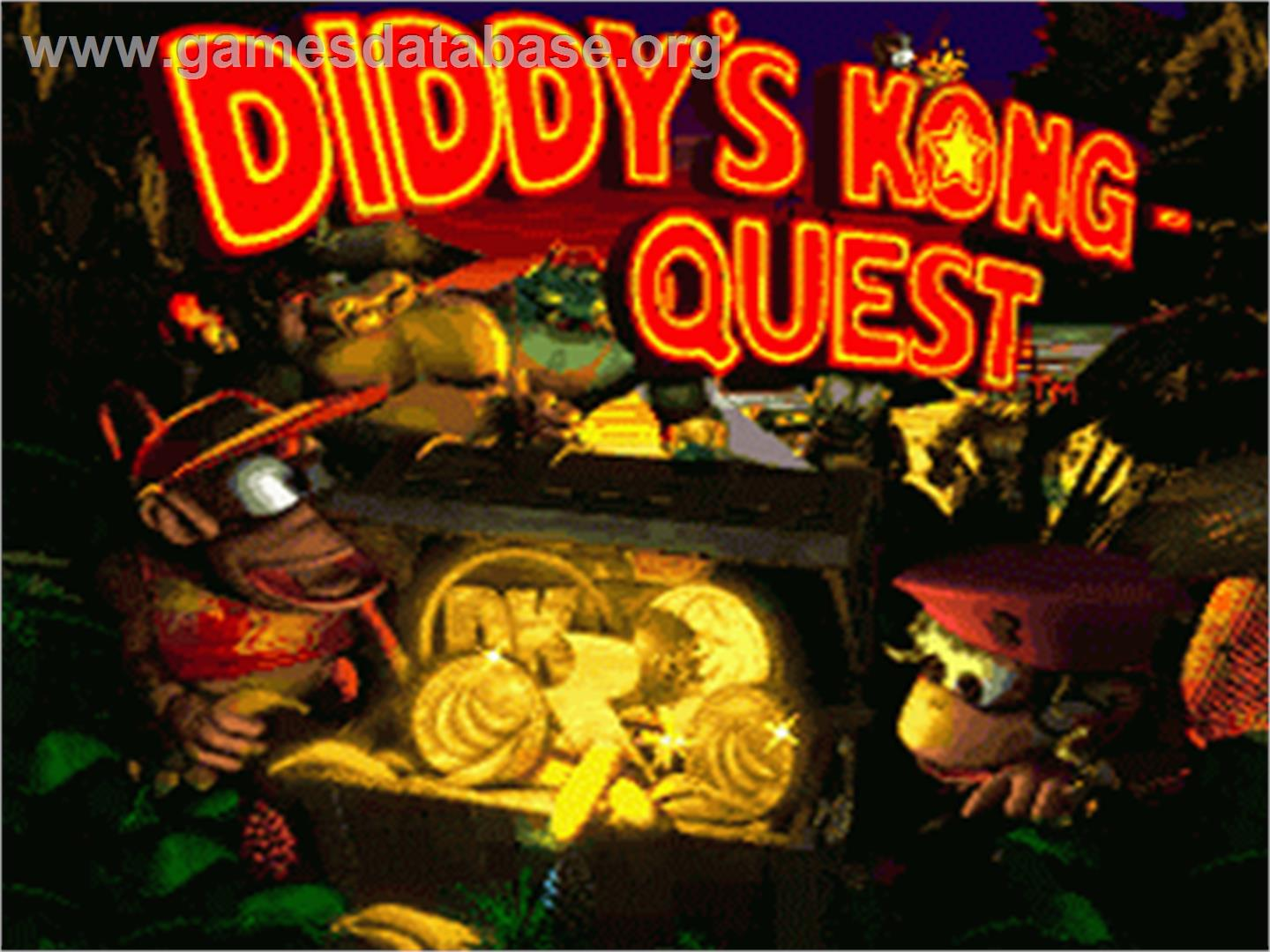 Donkey Kong Country 2: Diddy's Kong Quest - Nintendo SNES - Artwork - Title Screen
