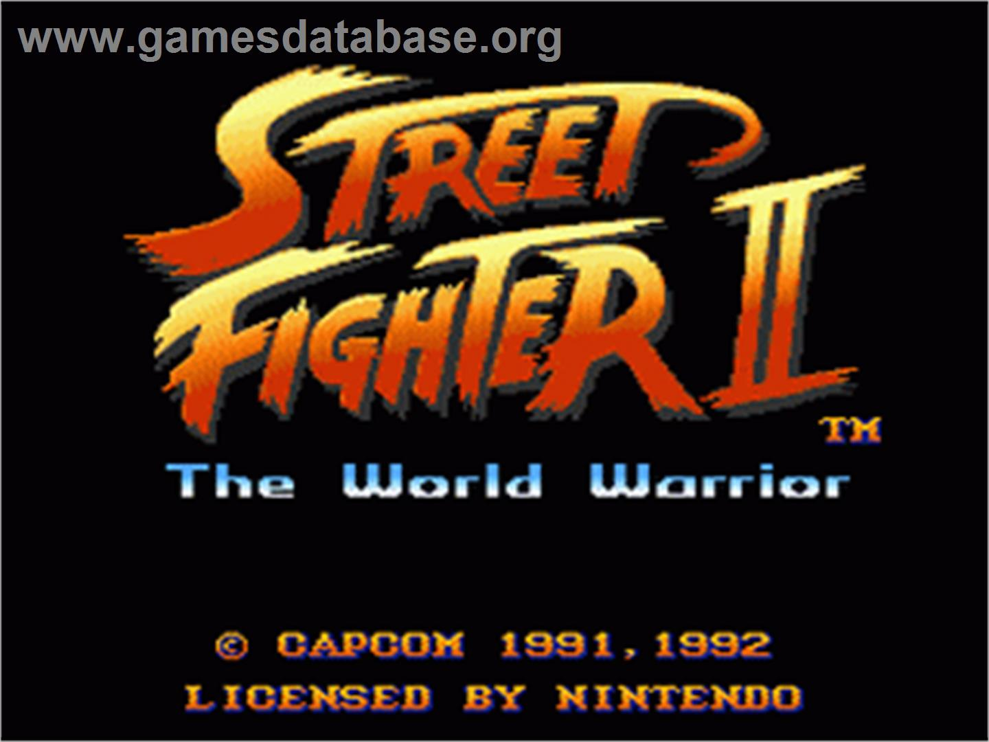 Street Fighter II: The World Warrior - Nintendo SNES - Artwork - Title Screen