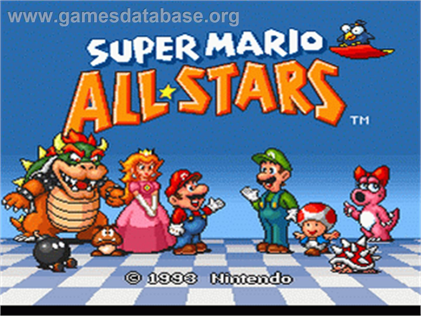 Super Mario All-Stars - Nintendo SNES - Artwork - Title Screen