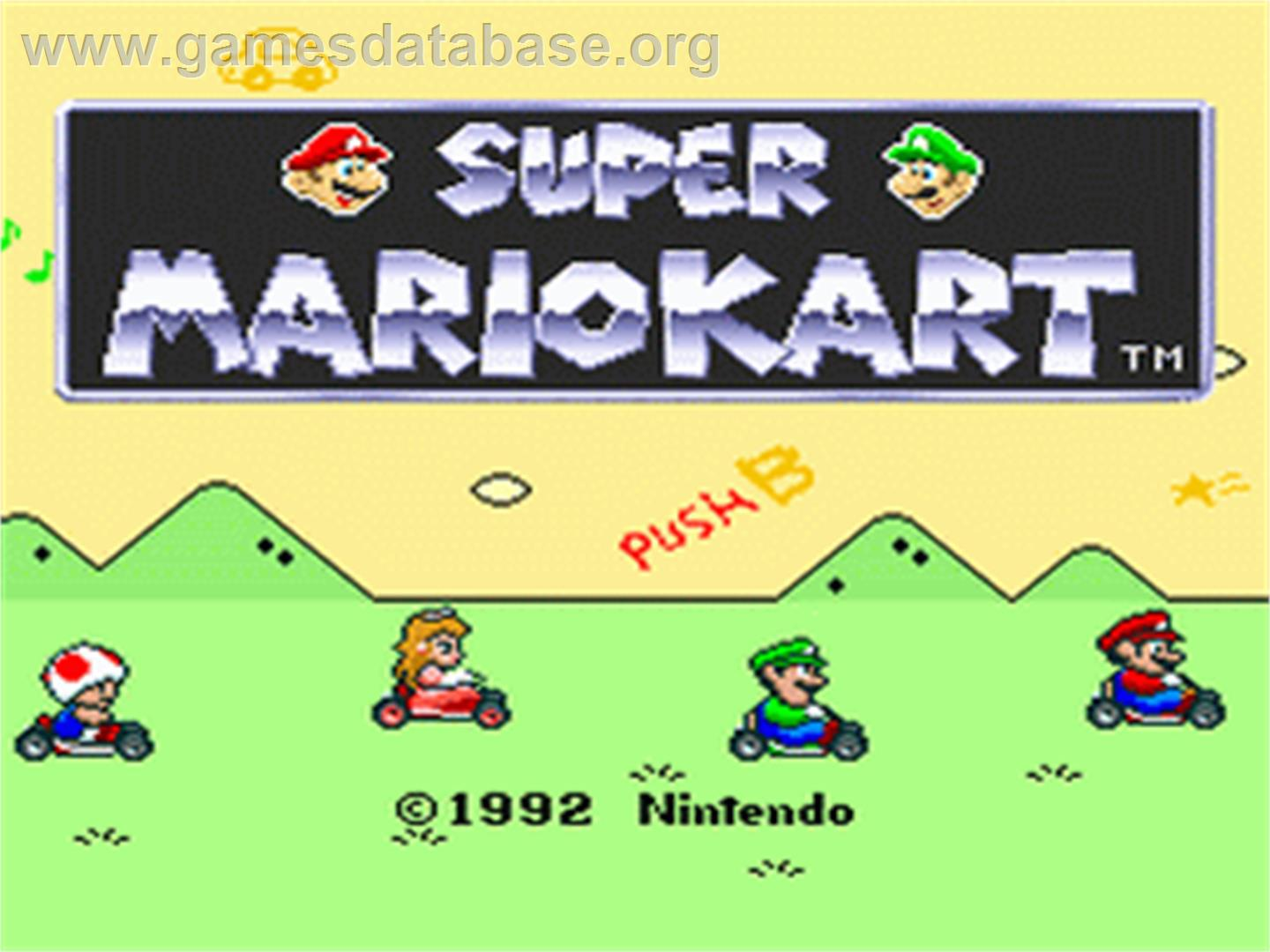 Super Mario Kart Nintendo Snes Games Database