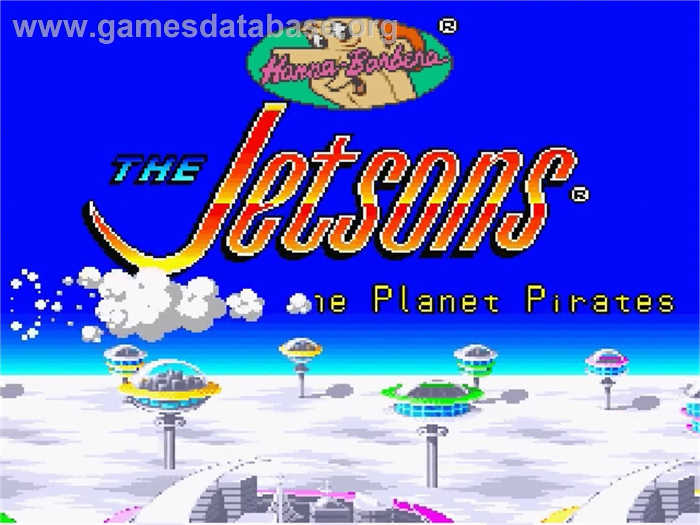 The Jetsons: Invasion of the Planet Pirates - Nintendo SNES - Artwork - Title Screen