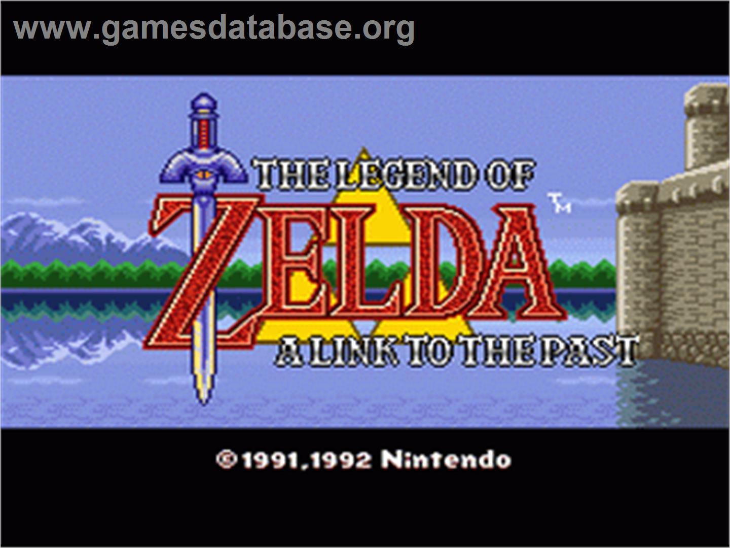 The Legend of Zelda: A Link to the Past - Nintendo SNES - Artwork - Title Screen