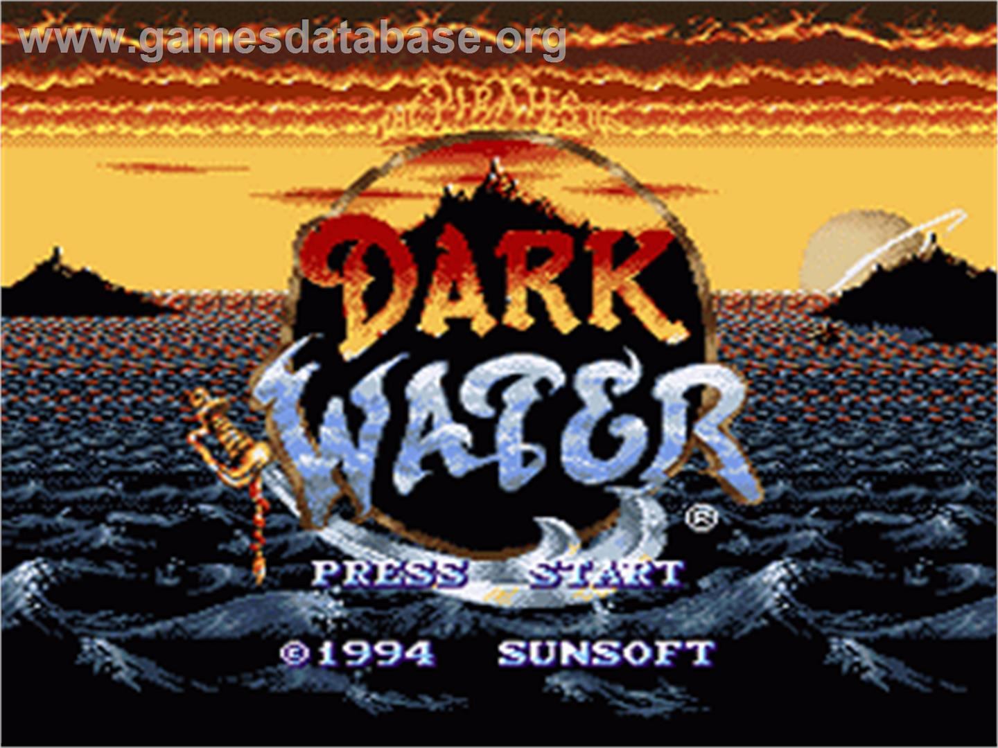 The Pirates of Dark Water - Nintendo SNES - Artwork - Title Screen