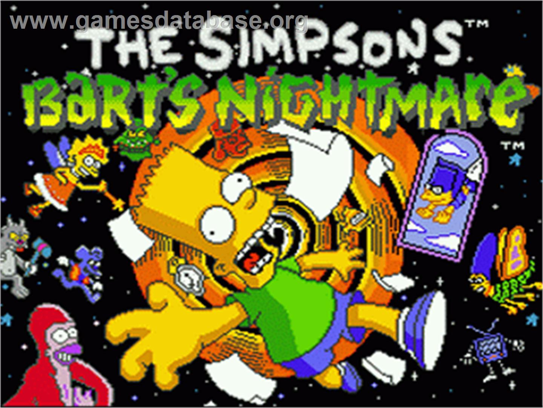 The Simpsons Bart S Nightmare Nintendo Snes Games