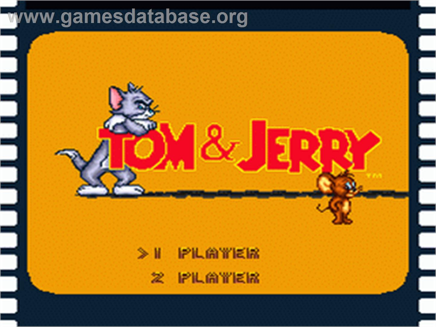 Title screen of Tom and Jerry on the Nintendo SNES.