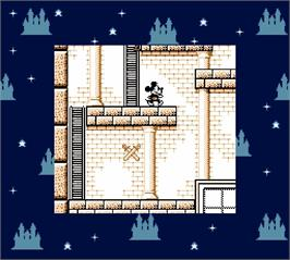 In game image of Mickey Mouse - Magic Wand on the Nintendo Super Gameboy.