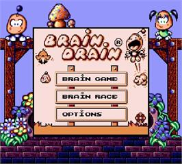 Title screen of Brain Drain on the Nintendo Super Gameboy.