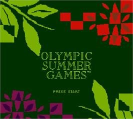 Title screen of Olympic Summer Games on the Nintendo Super Gameboy.