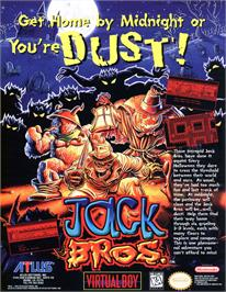 Advert for Jack Bros. on the Nintendo Virtual Boy.