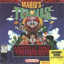 Box cover for Mario's Tennis on the Nintendo Virtual Boy.