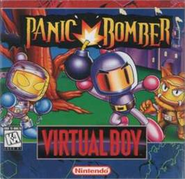 Box cover for Panic Bomber on the Nintendo Virtual Boy.