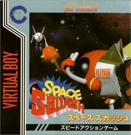 Box cover for Space Squash on the Nintendo Virtual Boy.