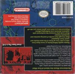 Box back cover for Panic Bomber on the Nintendo Virtual Boy.