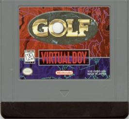 Cartridge artwork for Golf on the Nintendo Virtual Boy.