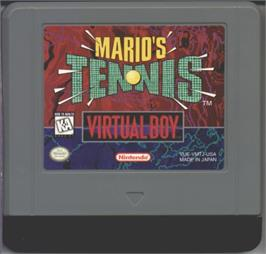 Cartridge artwork for Mario's Tennis on the Nintendo Virtual Boy.