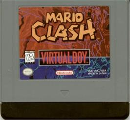 Cartridge artwork for Mario Clash on the Nintendo Virtual Boy.