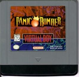 Cartridge artwork for Panic Bomber on the Nintendo Virtual Boy.