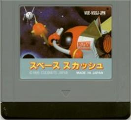 Cartridge artwork for Space Squash on the Nintendo Virtual Boy.